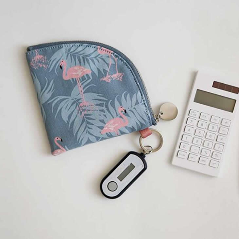 Animal Flamingo Coin Purse Fashion Girls Small Mini Change Wallet Purse Women Key Wallet Coin pouch Bag Children Kids Gifts