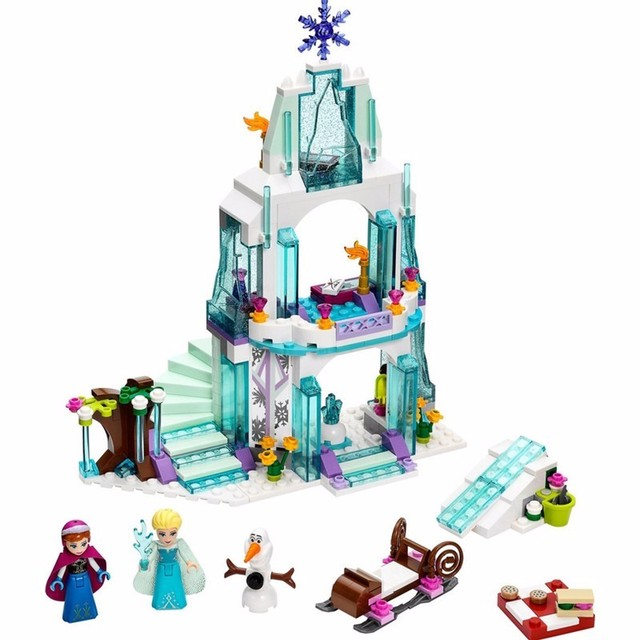 Romantic Castillo de cenicienta Anna Elsa Legoe Compatible Bloques de Construcción de Ladrillos Educativos Juguetes Para Niñas