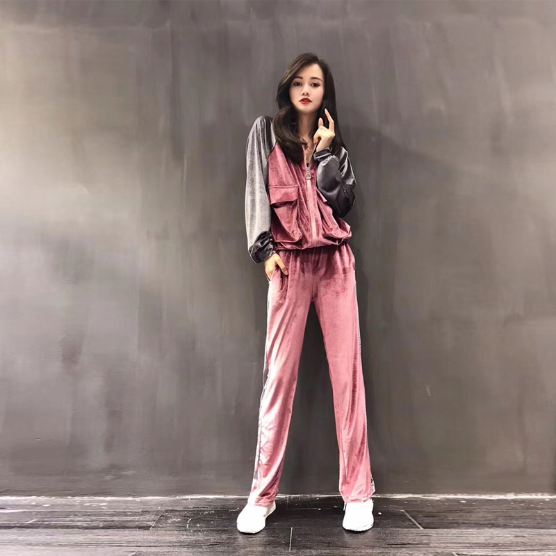 Sports suit spring and autumn casual women