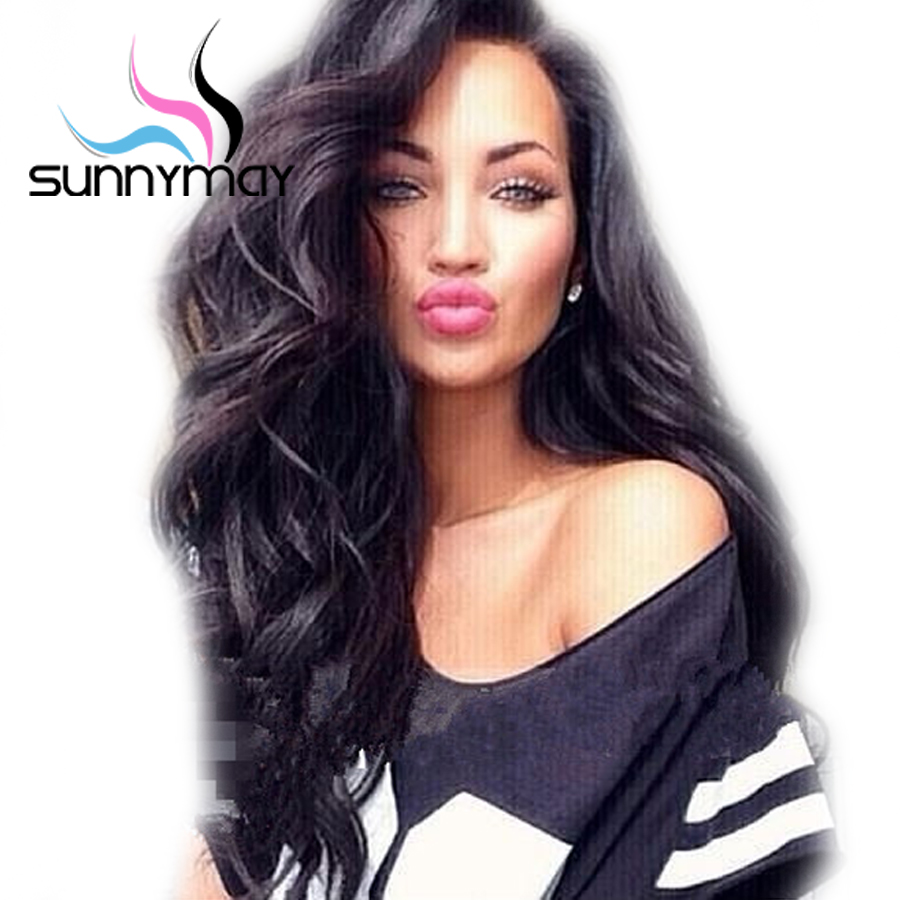 Sunnymay 250 Density Full Lace Wigs Body Wave Wig Brazilian Remy Side Part Pre Plucked Human