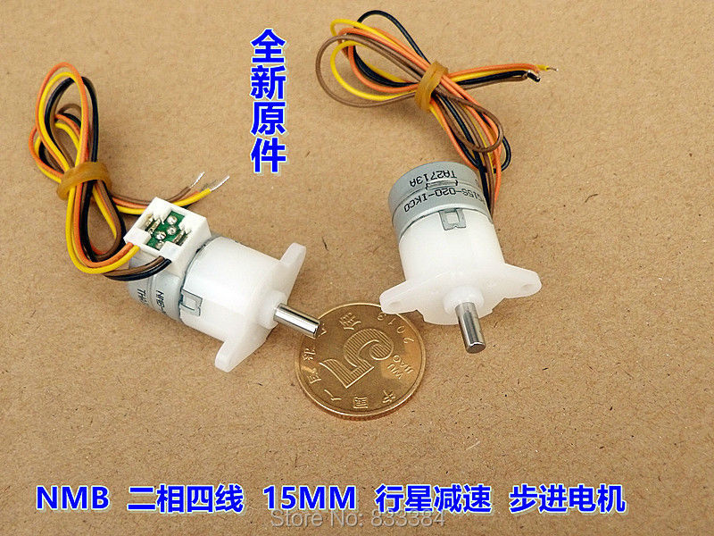 5PCS NMB dia 15mm 5V deceleration Micro motor 2 phase 4 wire stepper ...