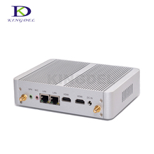 Лучшая цена Безвентиляторный маленький компьютер Celeron N3150 Quad Core HDMI Dual LAN 300 М WIFI Windows 10 Linux PC