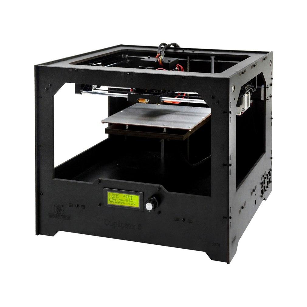 Geeetech D5 Professionnel Double Buse 3D Imprimante Haute Précision écran lcd impression de grande taille bricolage 2 Buse 3D kit imprimante