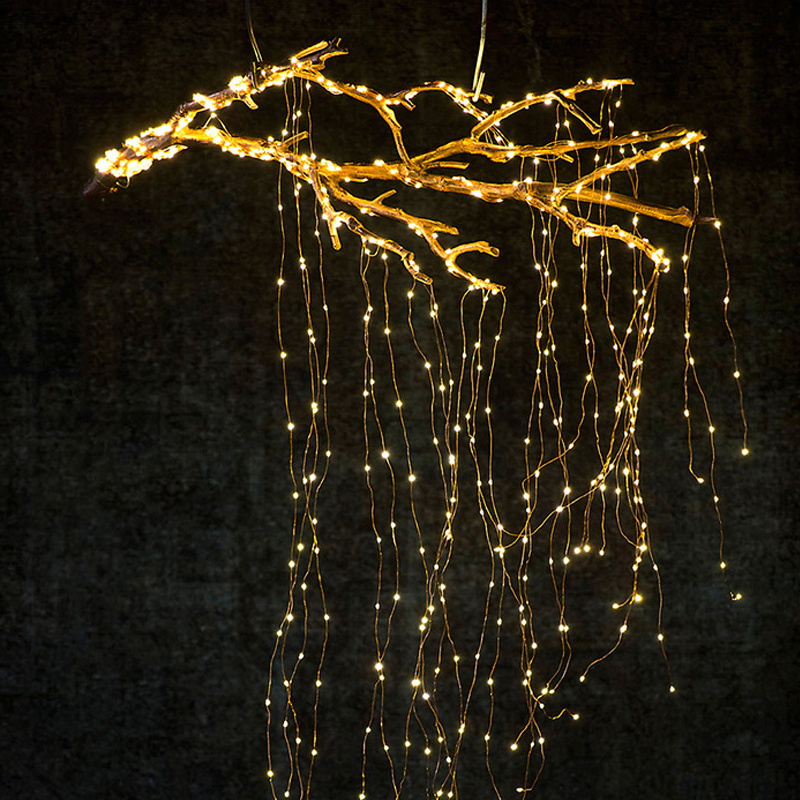 14 branches 280LEDs Starry Copper Wire String Lights Glowing Light for DIY Wedding Party Christmas Tree Decoration P20