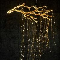 14 takken 280 LEDs Starry Koperdraad Lichtslingers Gloeiende Licht voor DIY Bruiloft Kerstboom Decoratie P20