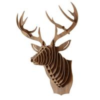 Nordic Christmas decorations deer head wooden crafts home decoration room wall decoration decoracion habitacion