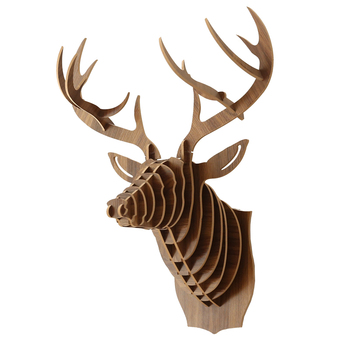 Nordic Christmas decorations deer head wooden crafts home decoration room wall decoration decoracion habitacion