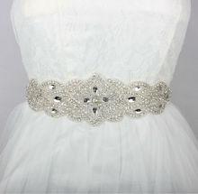 New Luxury Europe Style Rhinestones Bridal Sashes Handmade Wedding font b Dress b font Belt Made