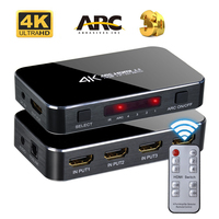 HDMI Switch 4X1 V2.0 4K ARC Audio Optical TOSLINK HDCP 2.2 for PS4 HDTV Xbox With ARC & IR Control For PS3 PS4 Apple TV HDTV