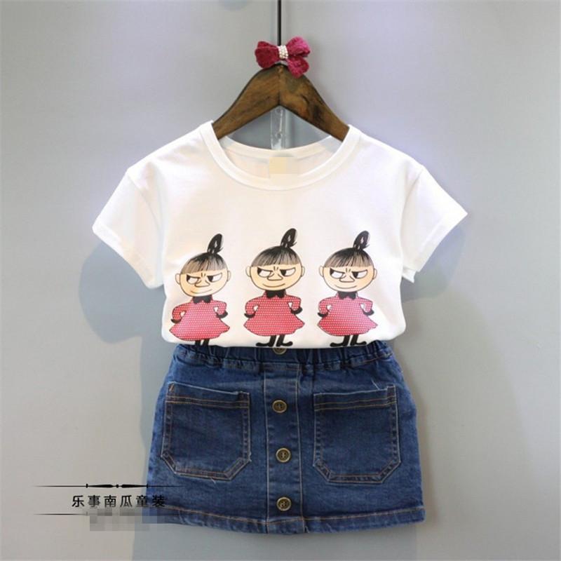 Letty bebé vestido de ropa para niños ropa de verano Niños de Los bebés  conejo Trajes Vestidos Faldas de mezclilla ocasional dres 66d2c95f147d
