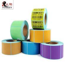Белый или цветной рулон стикеров, пустой прямой рулон Термоэтикеток 40 мм x 30 мм(700 стикеров) золотой, серебряный, желтый, синий и т. Д