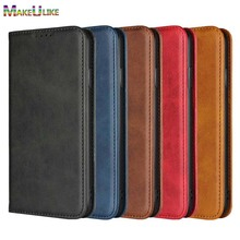 hot deal buy makeulike magnetic flip case for iphone xs max cover iphone xr case retro luxury pu leather wallet case for iphone x xs max xr