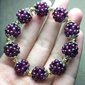 Natural Garnet Bracelet Women Hand-woven 3mm Lucky Ball Bracelets Jewelry Gift for Women Jade Bracelet Pulseras Mujer