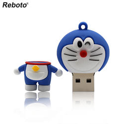 Reboto USB флеш-накопитель 64 ГБ Doraemon флеш-накопитель 4 Гб U диск 8 ГБ Memory Stick 16 ГБ, Флешка 32 Гб мини Cat флешка, подарок 2018