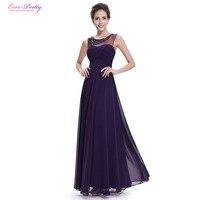 Ever Pretty Evening Dresses HE08648PP Women S Beautiful Elegant Round Neck Long Party Purple Sleeveless Evening
