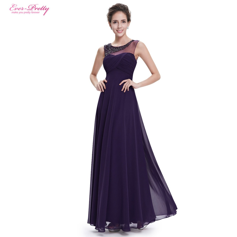 Clearance Sale Ever Pretty Evening Dresses HE08648PP Women Beautiful Elegant O Neck Long Party Sleeveless