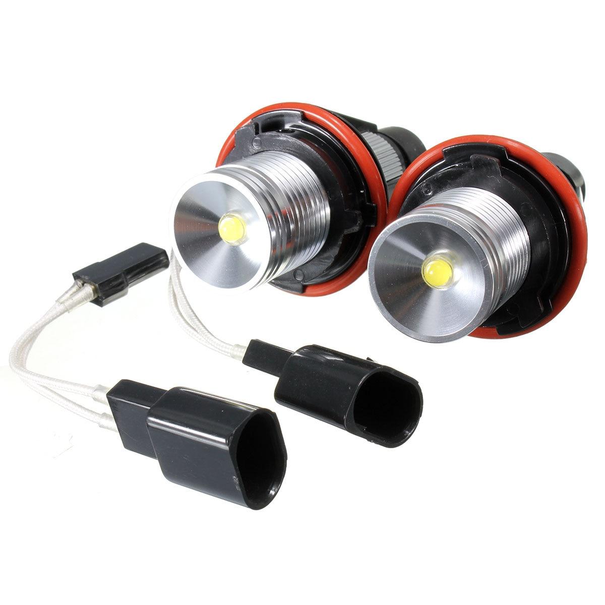 For BMV 10W Angel Eyes White Led Halo Ring Light Bulbs E39 E53 E60 E63 E64 E65
