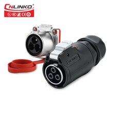 Cnlinko LP серии M24 пластиковый материал ПБТ 3 4 Pin 30A, разъем адаптера питания, провод, водонепроницаемый IP67 разъем