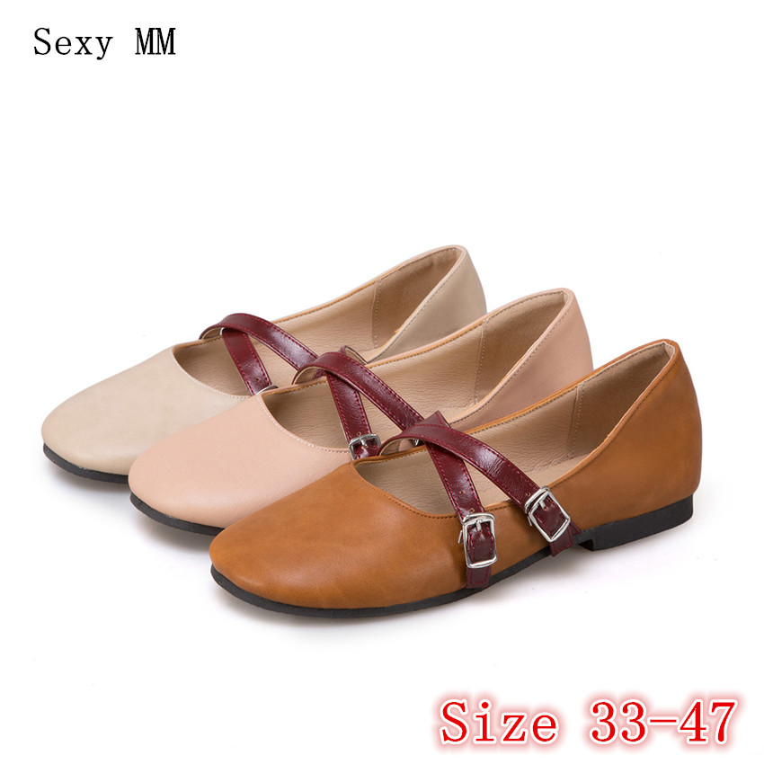 Slip On Shoes Loafers Girl Ballet Flats Women Flat Shoes Soft Comfortable Shoes Woman Plus Size 33 - 40 41 42 43 44 45 46 47 jingkubu 2017 autumn winter women ballet flats simple sewing warm fur comfort cotton shoes woman loafers slip on size 35 40 w329