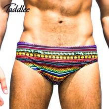 Taddlee Brand New Men Swimwear Swimsuits Swim Boxers Mens Sexy Swimming Bikini Briefs Swimwear Surf Board Shorts Gay Europe Size