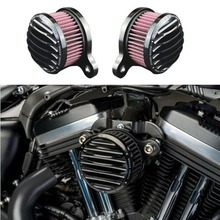 Черный воздушный фильтр moto rcycle Впускной воздухоочиститель Системы для Harley Sportster XL гладить 883 XL1200 48 72 2004-2014 Filtre воздуха moto