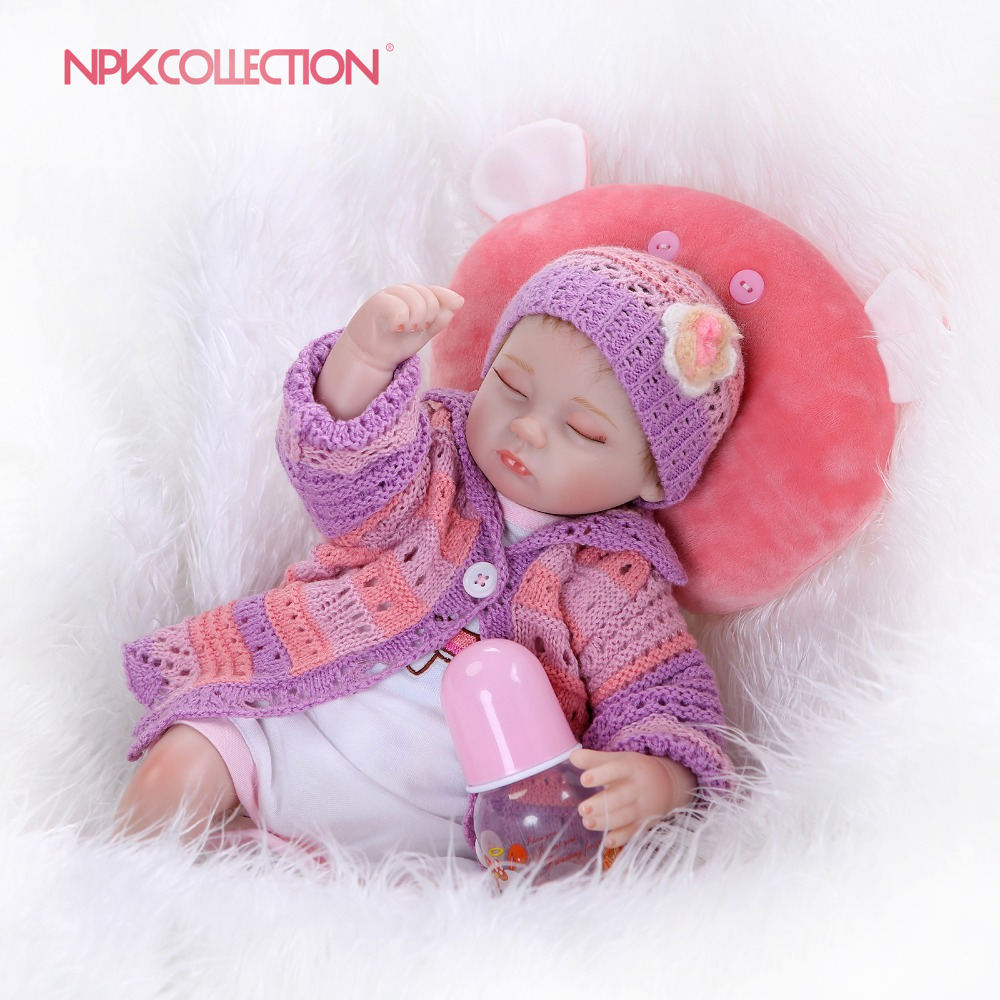 NPK reborn doll with soft real gentle touch lifelike baby alive toys Christmas gift bebe ...