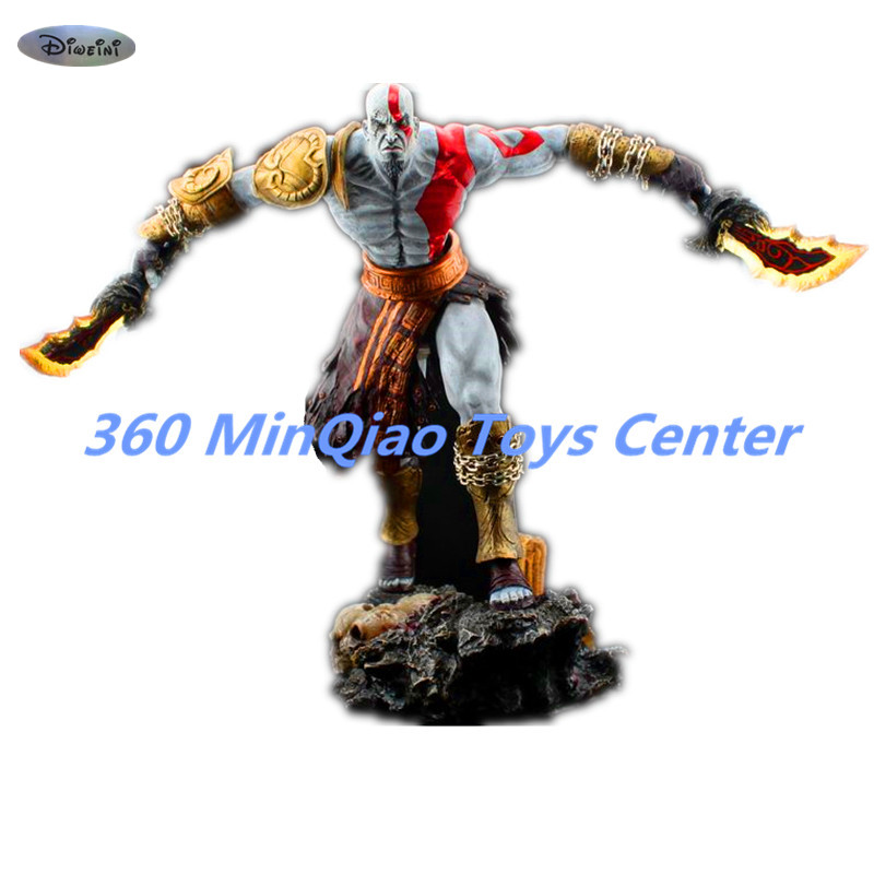 [Resin Made] 1/4 Scale God Of War 3 Kratos Resin FIGURE Statue Fans Action Figure Collectible Model Toy 35cm RETAIL BOX WU785 free shipping god of war anime kratos action figures kratos angry expressions statue mars kratos collection toy fb198