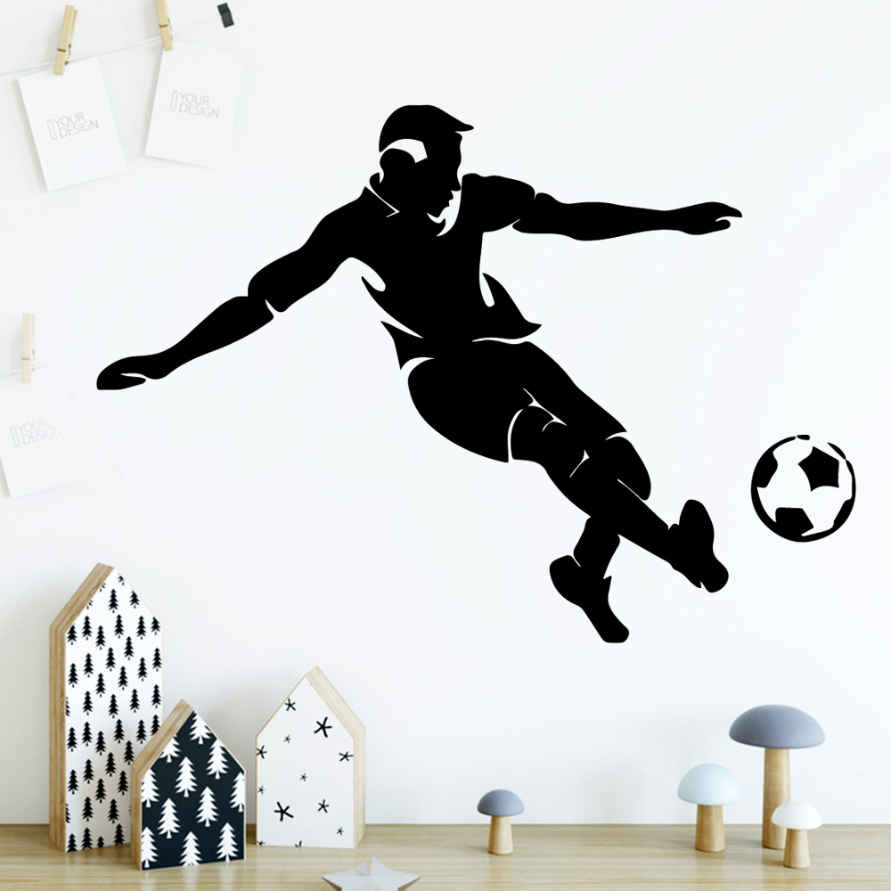 Personalized Play Fooball Home Decor Vinyl Wall Stickers For Baby Kids Rooms Decor Wall Art Decal wallstickers