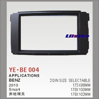 Liislee Double 2 DIN Dash Mount Kit For Benz Smart 2010 Adapter Bezel Facia / Audio Front Surround Frame ABS Panel Fascia Board