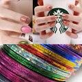 Lírio anjo 1mm 10 Pçs/set Misto Colorido Beleza Prego Rolls Striping Linha Tape DIY Nails Art Adesivos para Unhas ferramentas Decorações