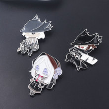 Bloodborne Badge Pins Brooch Maria Hunters Ludwig Blood Source Figure Brooches for Women Men Lapel pin Jewelry