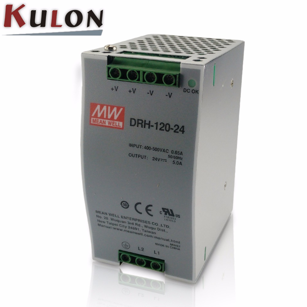 цена на Original MEAN WELL DRH-120-24 Single Output 5A 24V 120W Industrial DIN rail Meanwell power supply DRH-120