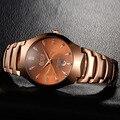 2016 men luxury brand Watches rose gold stainless steel business top design simple quartz watch fashion dress waterproof clock
