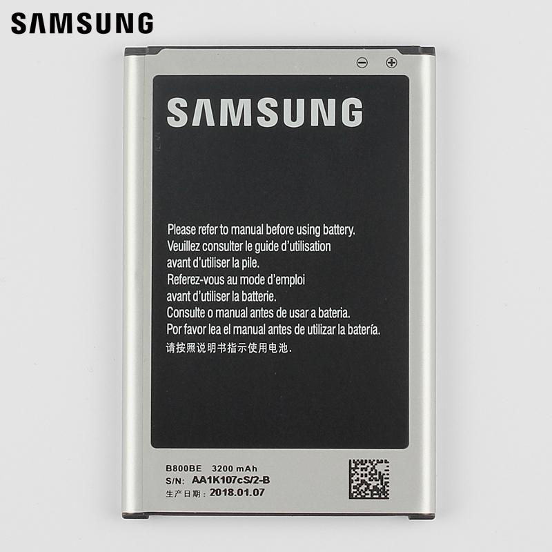 Samsung Original Replacement Battery B800BC For Samsung GALAXY NOTE 3 N900 N9009 N9008 N9006 N9005 N9002 Note3 with NFC 3200mAh