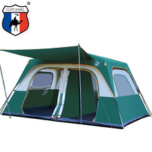 camping tent Two  story outdoor 2 living rooms and 1 hall high quality family large space 8 10
