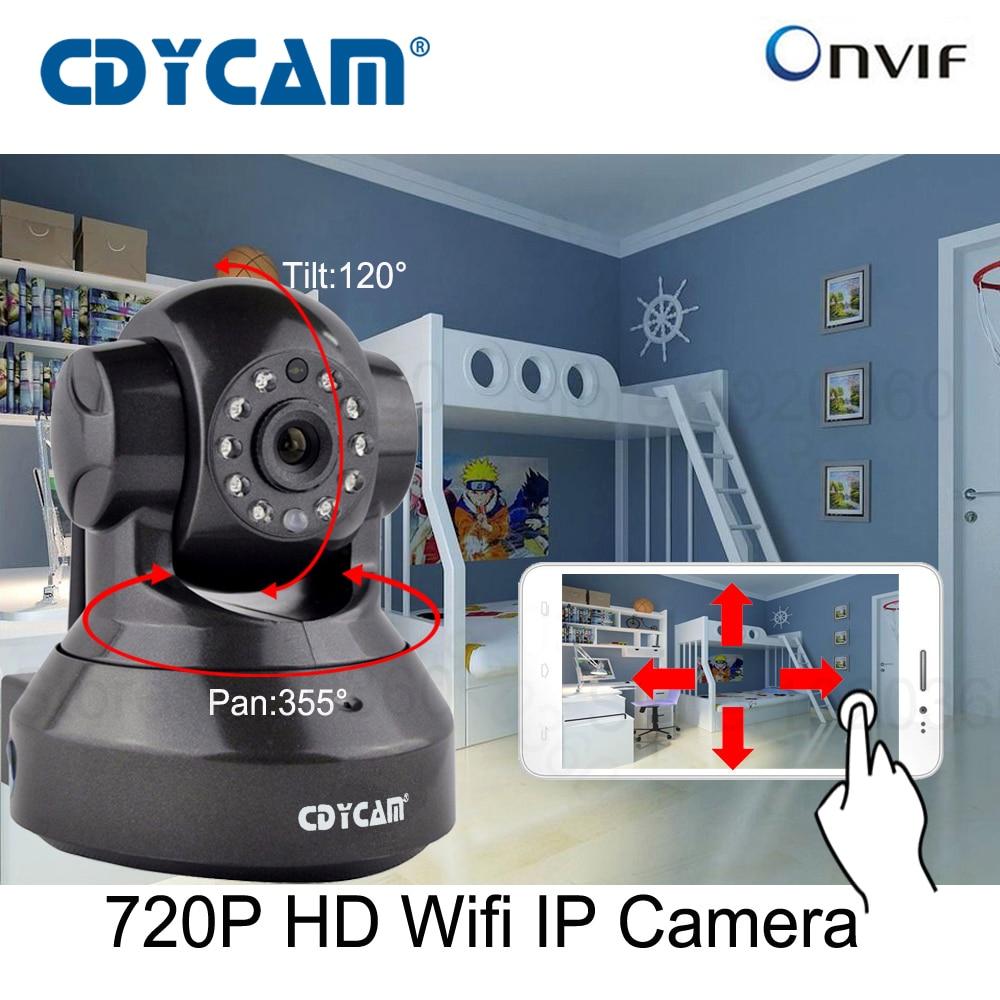 imágenes para CDYCAM Home cámaras de Seguridad Ip Inalámbrica Mini cámara de Vigilancia Cámara IP Wifi 720 P de Visión Nocturna CCTV Cámara de Monitor de Bebé