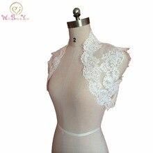 Custom Made 2015 Ivory Sleeveless Lace Wedding Jacket Wedding Boleros Bridal Party Jacket
