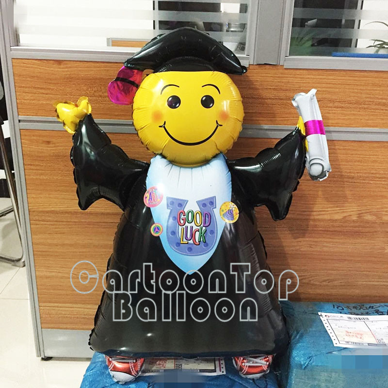 103cm large 5pcs graduation foil balloons smiling doctor helium balloon kid Graduation party decoration good luck ballon LTM01