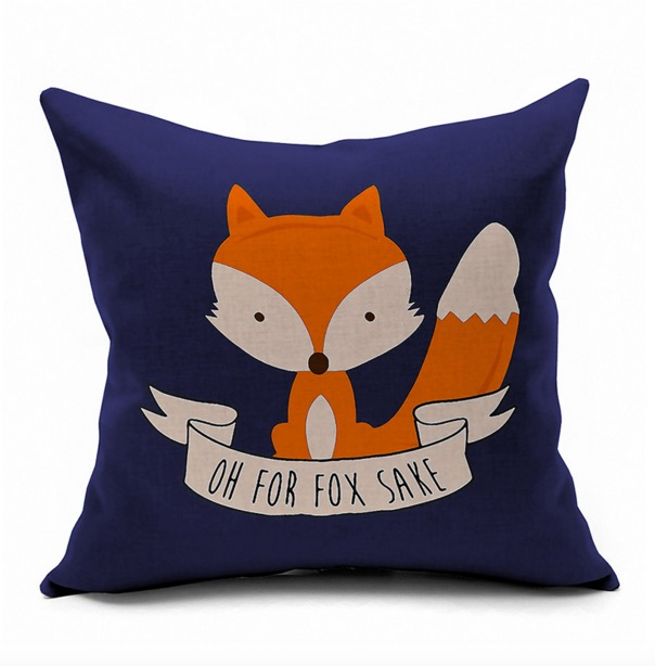 Charmant Oh For Fox Sake Cartoon Comics Japanese Emoji Pillow Massager Decorative  Pillows Cover Euro Home Decor