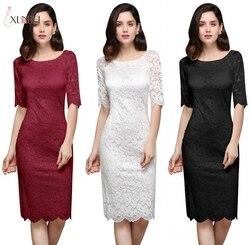 Robe De Soiree, платье русалки, черное, короткое, кружевное, вечернее платье, 2019, половина рукава, платье для матери невесты, вечерние платья