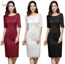 Áo Dây De Soiree Nàng Tiên Cá Lứa Đen Đầm Ngắn Ren Váy Đầm Dạ Nửa Tay Mẹ Của Cô Dâu Đầm Dài Dạ Tiệc