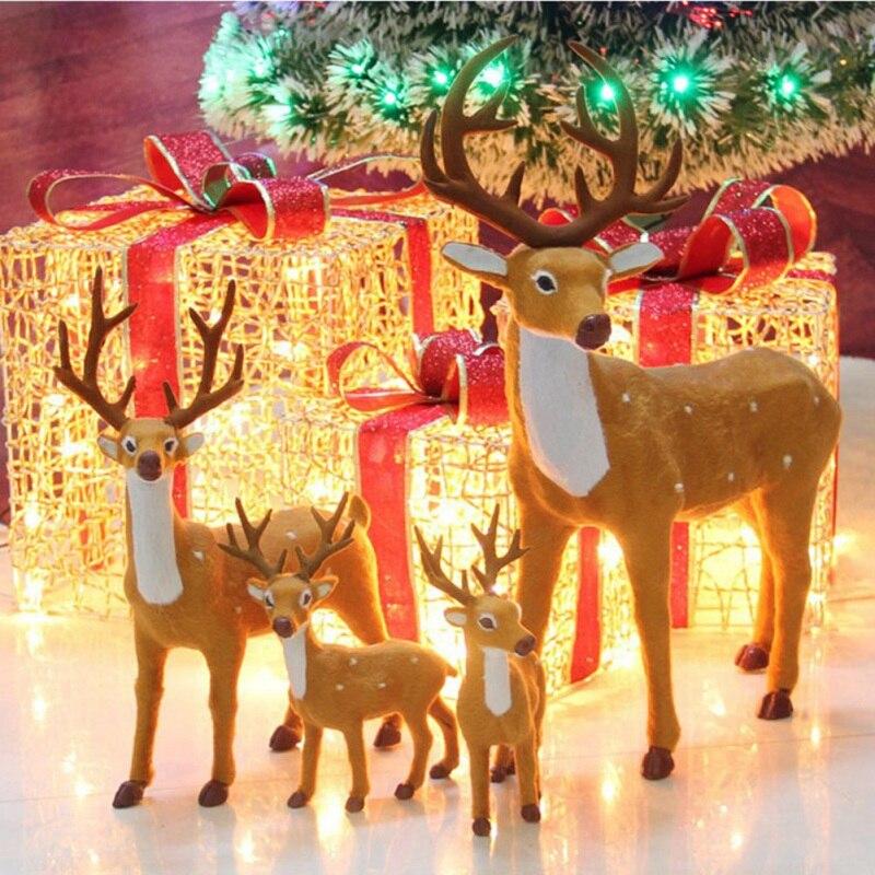 1 Pc Christmas Decoration Elk Plush Animal Toy Figurine