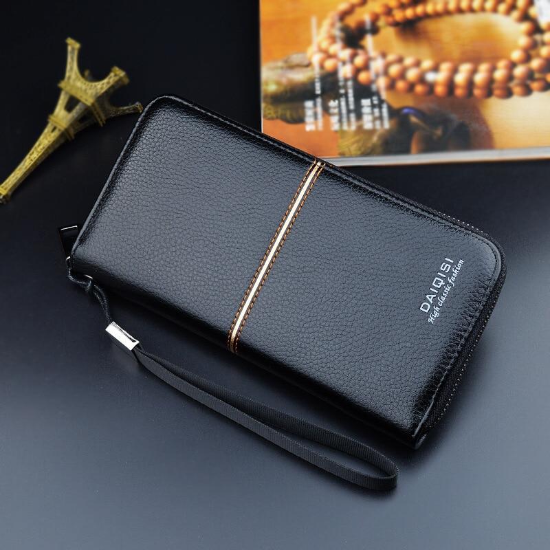 blixtlås långa män plånbok handväskor varumärke företag - Plånböcker