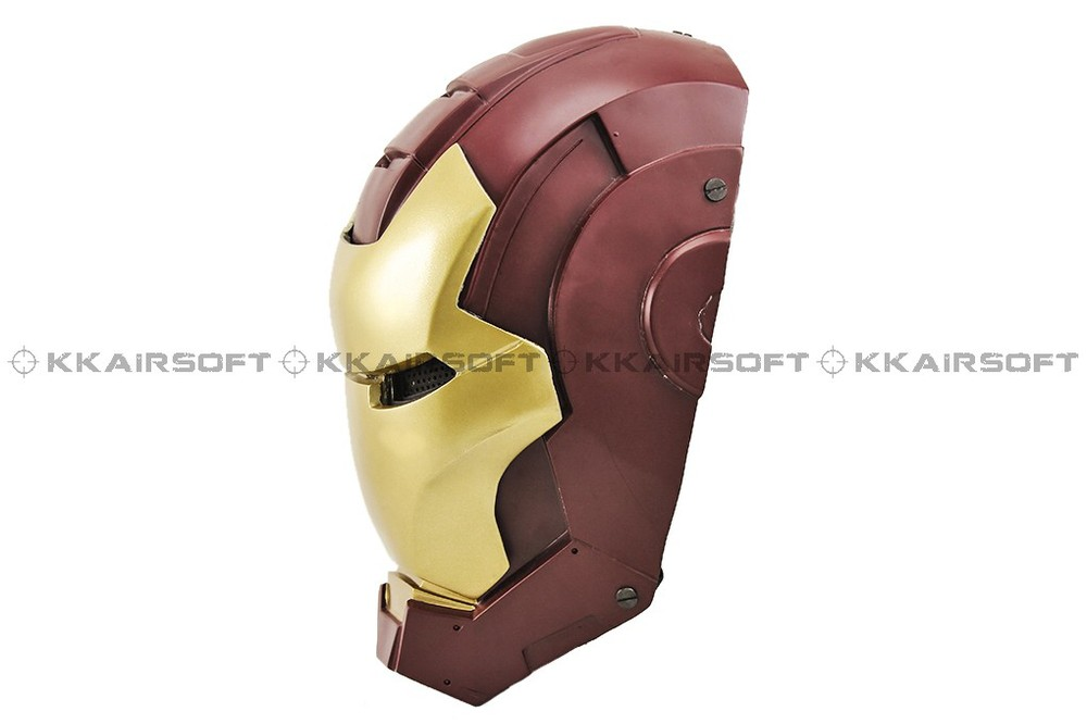 Paintball Party Mask Airsoft Wire Mesh Iron Man 2 Full Face Mask Bd8874