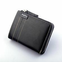 Classic men's wallet PU leather zipper purse mini clutch bag