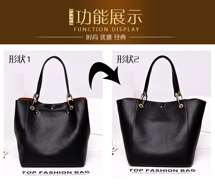 PU Tote Ladies Casual Large Capacity Shoulder Bag 12 colours 36