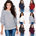 New Autumn Winter Women Sweaters Hoodies Batwing Sleeve 2016 Warm Mohair Female Pullover Casual Loose Sweater Knitted Tops M11-1