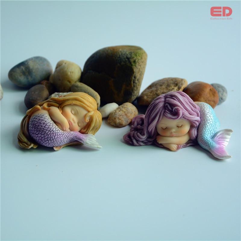 Günlük Koleksiyon Reçine Mermaid Minyatür Peri Bahçe Ev Aksesuar - Ev Dekoru - Fotoğraf 5
