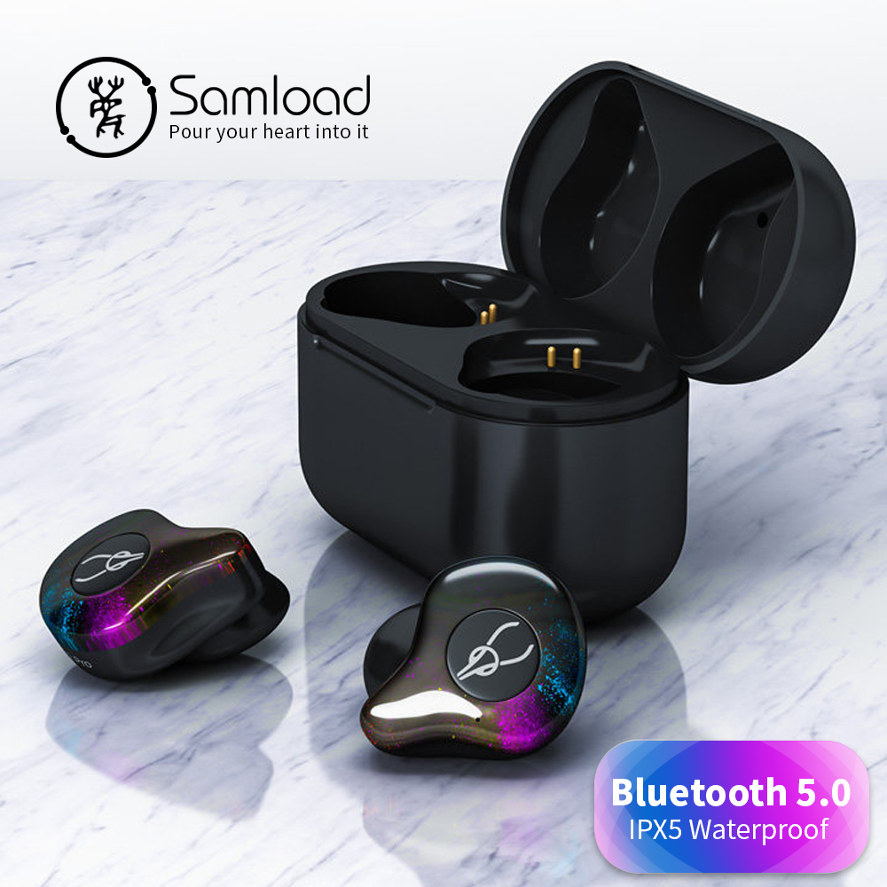 Samload Bluetooth 5.0 Earphone Headphones Sport Wireless Earbuds Stereo Headset With Charging box For Samsung xiaomi sony iPhone цена