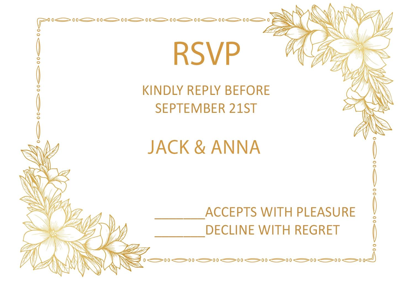 10pcs supporting print wedding paper rsvp cards design